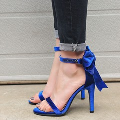 Shoespie Sexy Line-Style Buckle Stiletto Heel Heel Covering Sandals