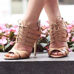 Shoespie Stylish Open Toe Lace-Up Strappy Dress Sandals