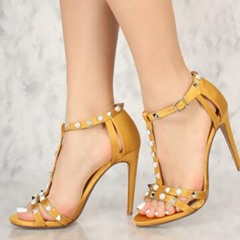 Shoespie Stylish Stiletto Heel Open Toe Buckle Dress Sandals
