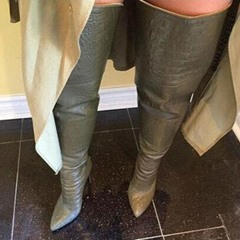 Shoespie Sexy Plain Stiletto Heel Pointed Toe Thigh High Boots