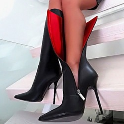 Shoespie Trendy Stiletto Heel Pointed Toe Plain Knee High Boots