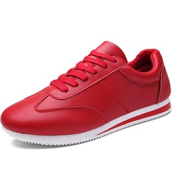 Shoespie Low-Cut Upper Lace-Up Round Toe Flat Men's Sneakers