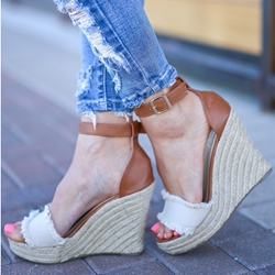 Shoespie Trendy Wedge Heel Buckle Open Toe Sandals