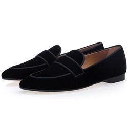 Shoespie Slip-On Low-Cut Upper Plain Round Toe Men's Loafers