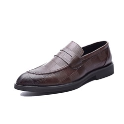 Shoespie Low-Cut Upper Round Toe Men's Leather Shoes