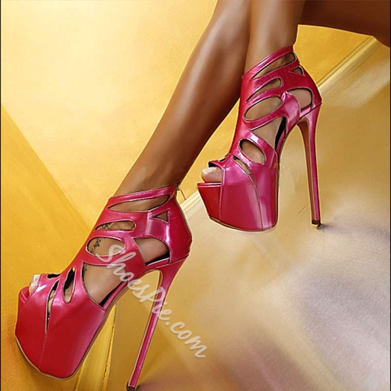 90a49fa2b760 Shoespie Stylish Stiletto Heel Heel Covering Peep Toe Platform Sandals