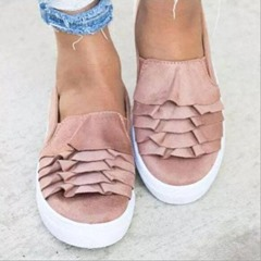 Shoespie Trendy Round Toe Flat With Slip-On Low-Cut Loafers