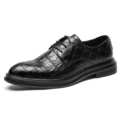 Shoespie Plain Low-Cut Upper PU Men's Leather Shoes