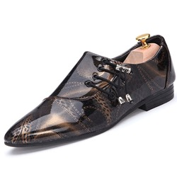 4691d3bc6a4 Shoespie Print Pointed Toe Men s Flat Shoes