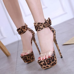 Shoespie Sexy Leopard Stiletto Heel Platform Sandals