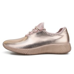 Shoespie Lace-Up PU Casual Sneakers