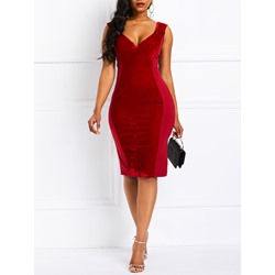 Knee-Length Standard-Waist Women's Bodycon Dress