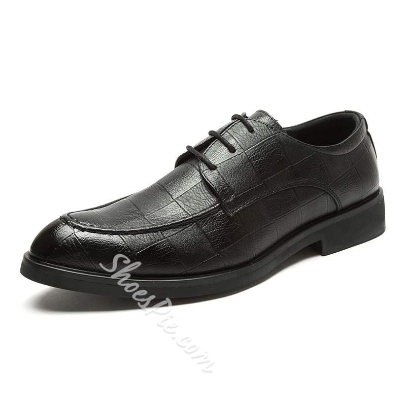 Shoespie Low Cut Upper PU Men's Leather Shoes