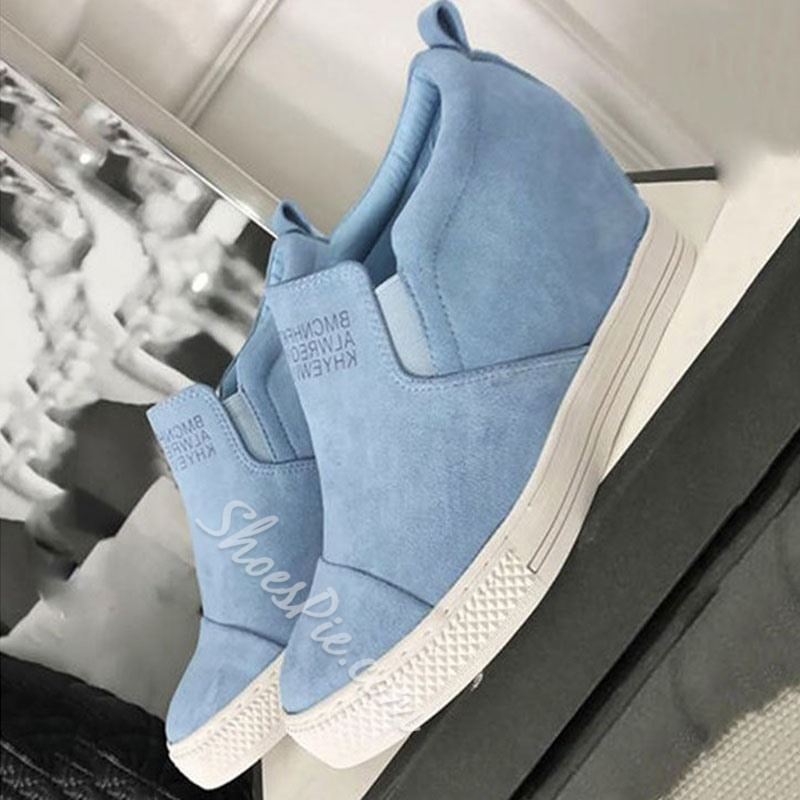 Shoespie Trendy Low-Cut Upper Platform Round Toe Casual Sneakers