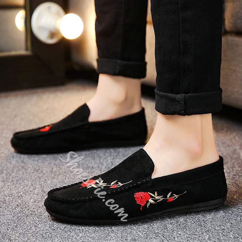 Shoespie Print Slip On Men's Driving Shoes
