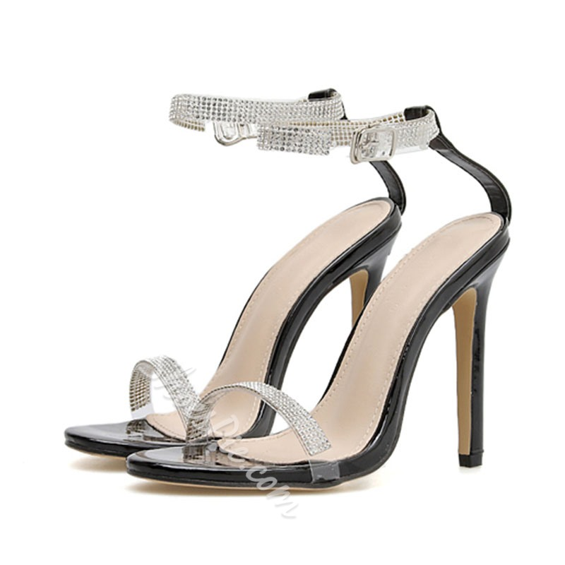 Shoespie Sexy Open Toe Ankle Strap Line-Style Buckle Dress Sandals
