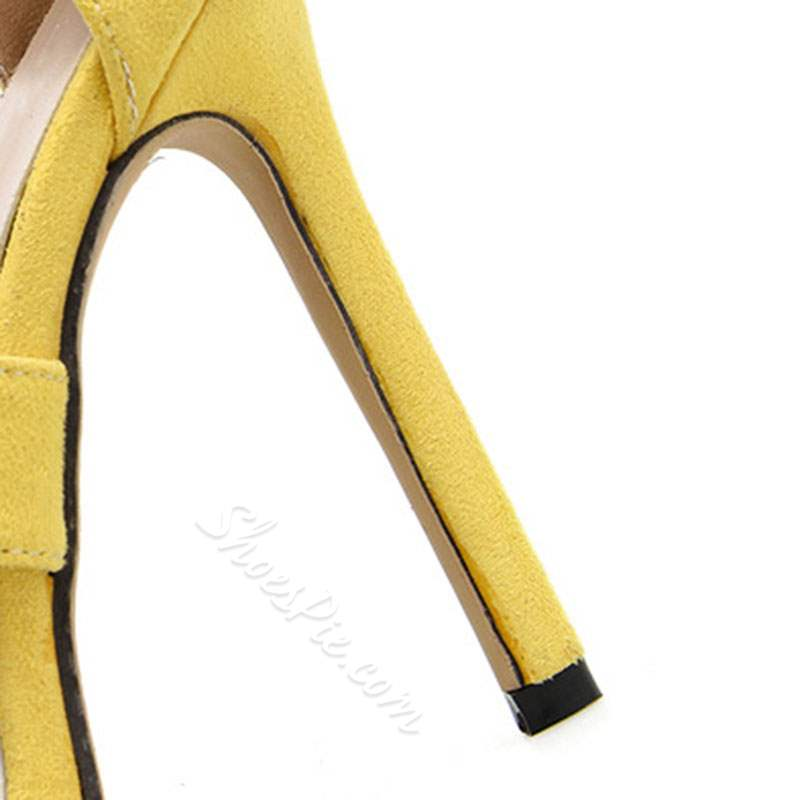 Shoespie Stiletto Heel Toe Zipper Sandals