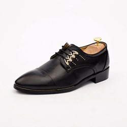 Shoespie Plain Low Cut Upper PU Men's Leather Shoes