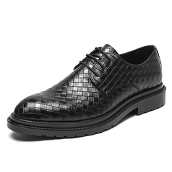 Shoespie Plaid Low-Cut Upper PU Men's Leather Shoes
