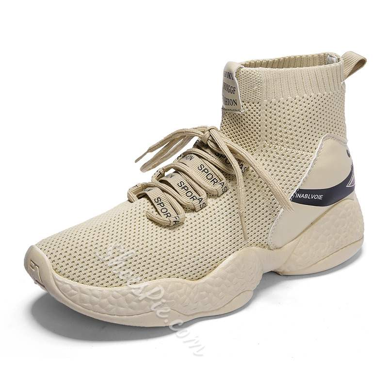 Shoespie Lace Up High Cut Upper Mesh Mne's Sneakers