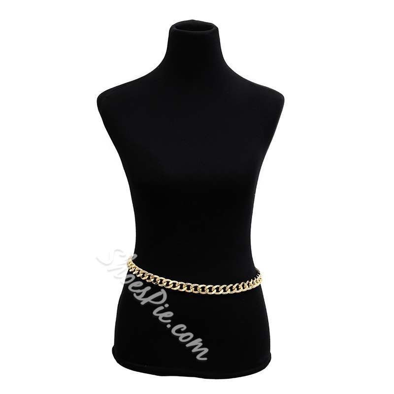 Concise Golden Metal Belly Chain