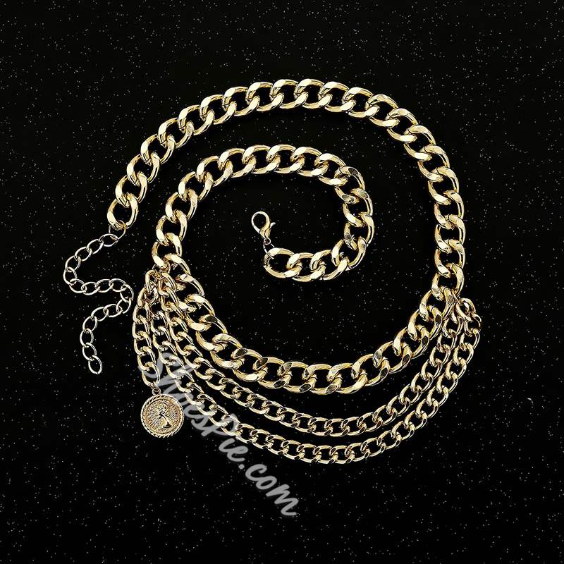 Vintage Golden Waist Chain for Jeans Dresses