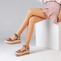 Shoespie Stylish Open Toe Buckle Ankle Strap Platform Sandals