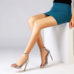Shoespie Trendy Line-Style Buckle Heel Covering Open Toe Dress Sandals