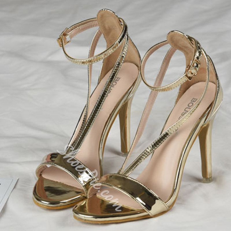 Shoespie Stylish Heel Covering Line Style Buckle Stiletto Heel Sandals