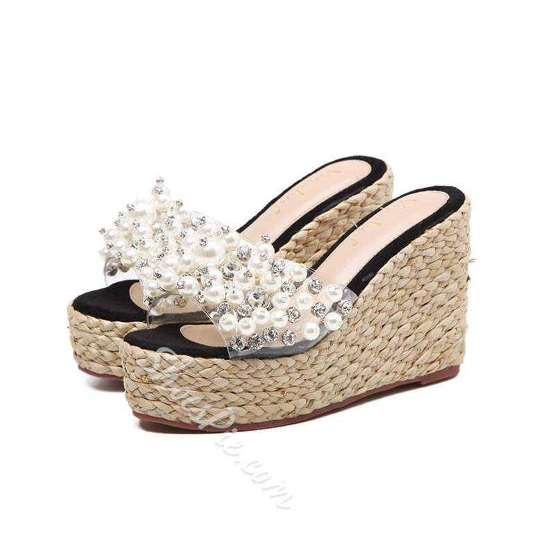 Shoespie Stylish Slip-On Wedge Heel Flip Flop Summer Slippers