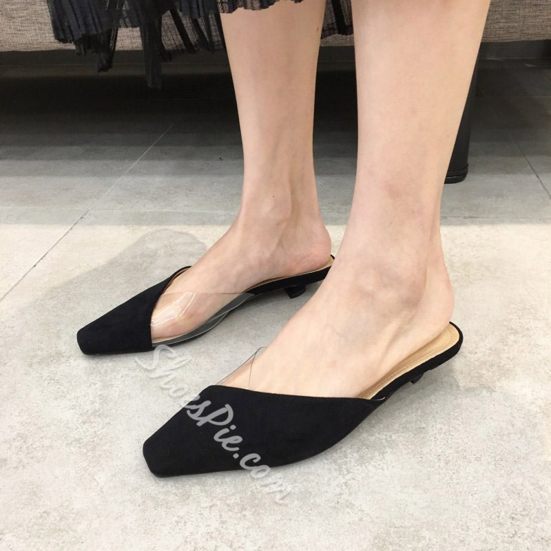Shoespie Trendy Closed Toe Slip-On Low Heel Loafers