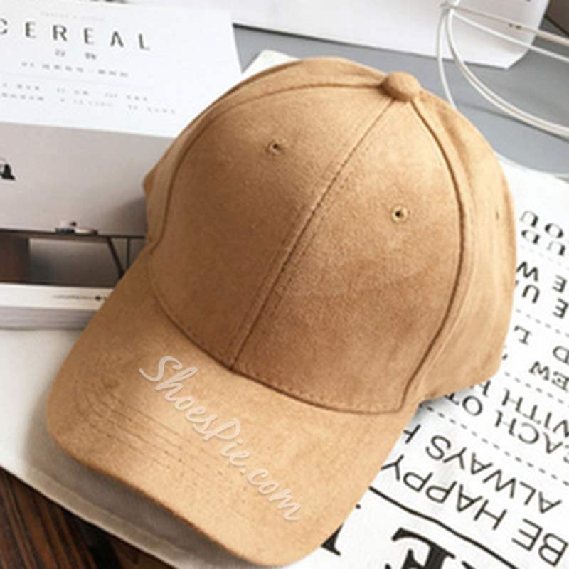 Plain Sewing Thread Suede Baseball Cap