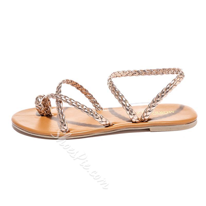 Shoespie Trendy Flat With Thong Slip-On Beach Sandals