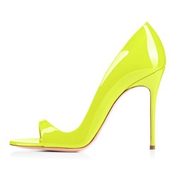 Shoespie Trendy Yellow Heel Covering Open Toe Dress Sandals