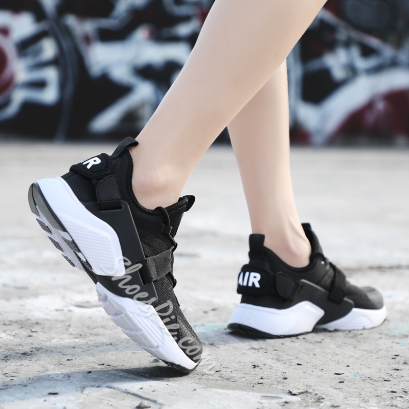 Shoespie Casual Lace-Up Thread Color Block Sneakers