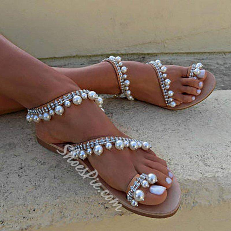 Shoespie Stylish Thong Slip-On Flat With Beach Sandals