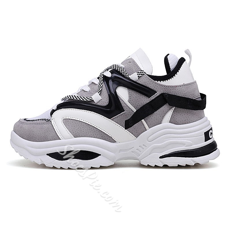Shoespie Chic Chunky High Top Casual Sneakers