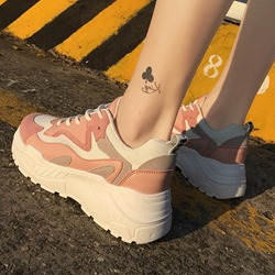 Shoespie Platform Lace-Up Casual Sport Sneakers