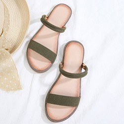 Shoespie Trendy Slip-On Ankle Strap Open Toe Flat Sandals