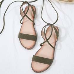 Shoespie Stylish Block Heel Open Toe Ankle Strap Flat Sandals