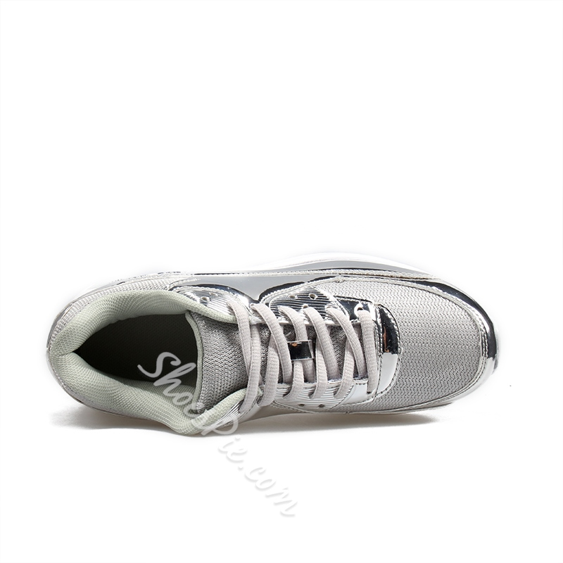 Shoespie Glitter Casual Mesh Chunky Sneakers