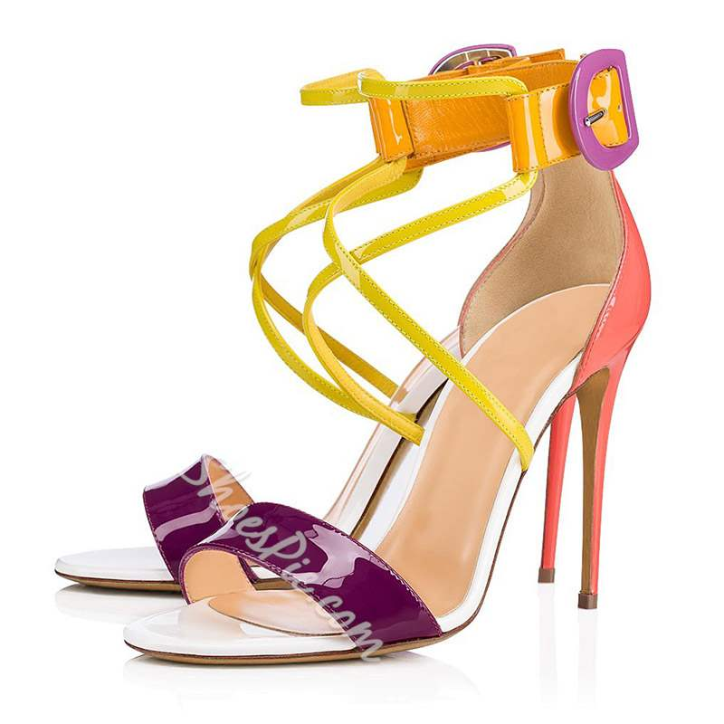 Shoespie Sexy Colorful Stiletto Heel Open Toe Banquet Sandals