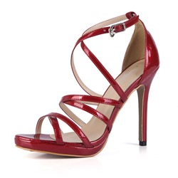 Shoespie Sexy Buckle Stiletto Heel Open Toe Heel Covering Sandals