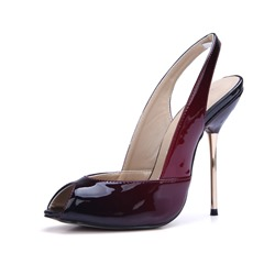 Shoespie Trendy Stiletto Heel Slip-On Slingback Strap Gradient Sandals