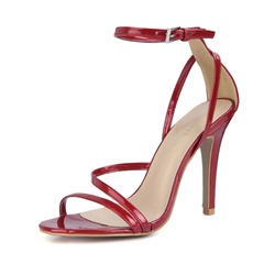 Shoespie Trendy Line-Style Buckle Heel Covering Dress Sandals