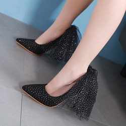 shoespie Stylish Slip-On Pointed Toe Stiletto Heel Shoes
