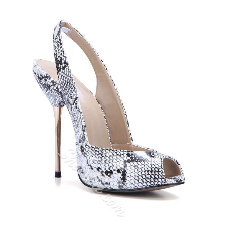 Shoespie Slip-On Peep Toe Slingback Strap Serpentine Sandals