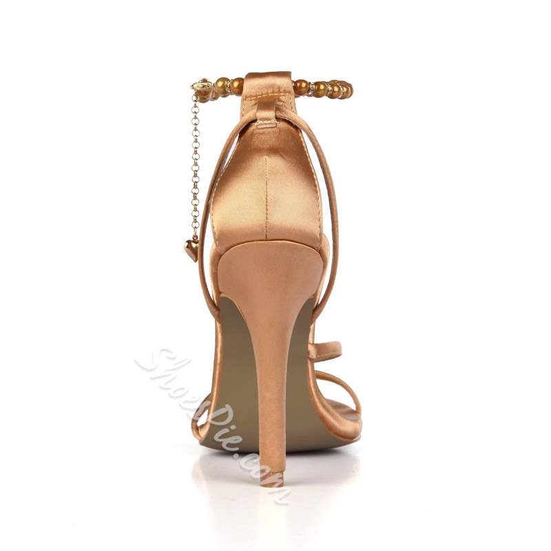 Shoespie Wedding Stiletto Heel Line-Style Buckle Open Toe Dress Sandals