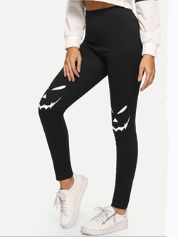 Sports Print Geometric High-Waist Women's Leggings