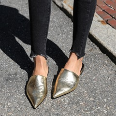 Shoespie Sexy Flat With Slip-On Closed Toe Mule Shoes